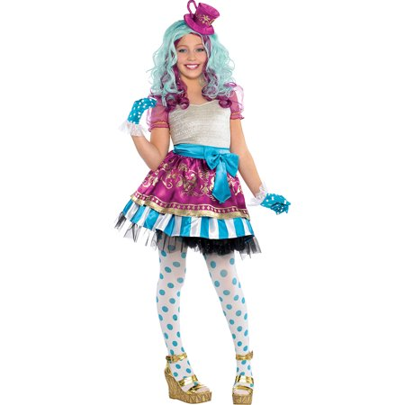 Madeline Hatter Costume (Ever After High Madeline Hatter Halloween Costume Supreme for Girls,)
