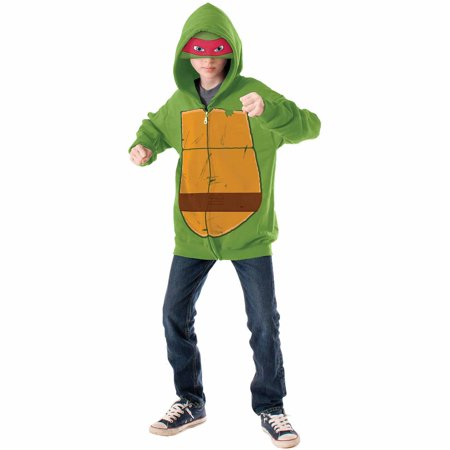 Teenage Mutant Ninja Turtles Raphael Hoodie Child Halloween Costume (Ninja Turtle Costume Raphael)