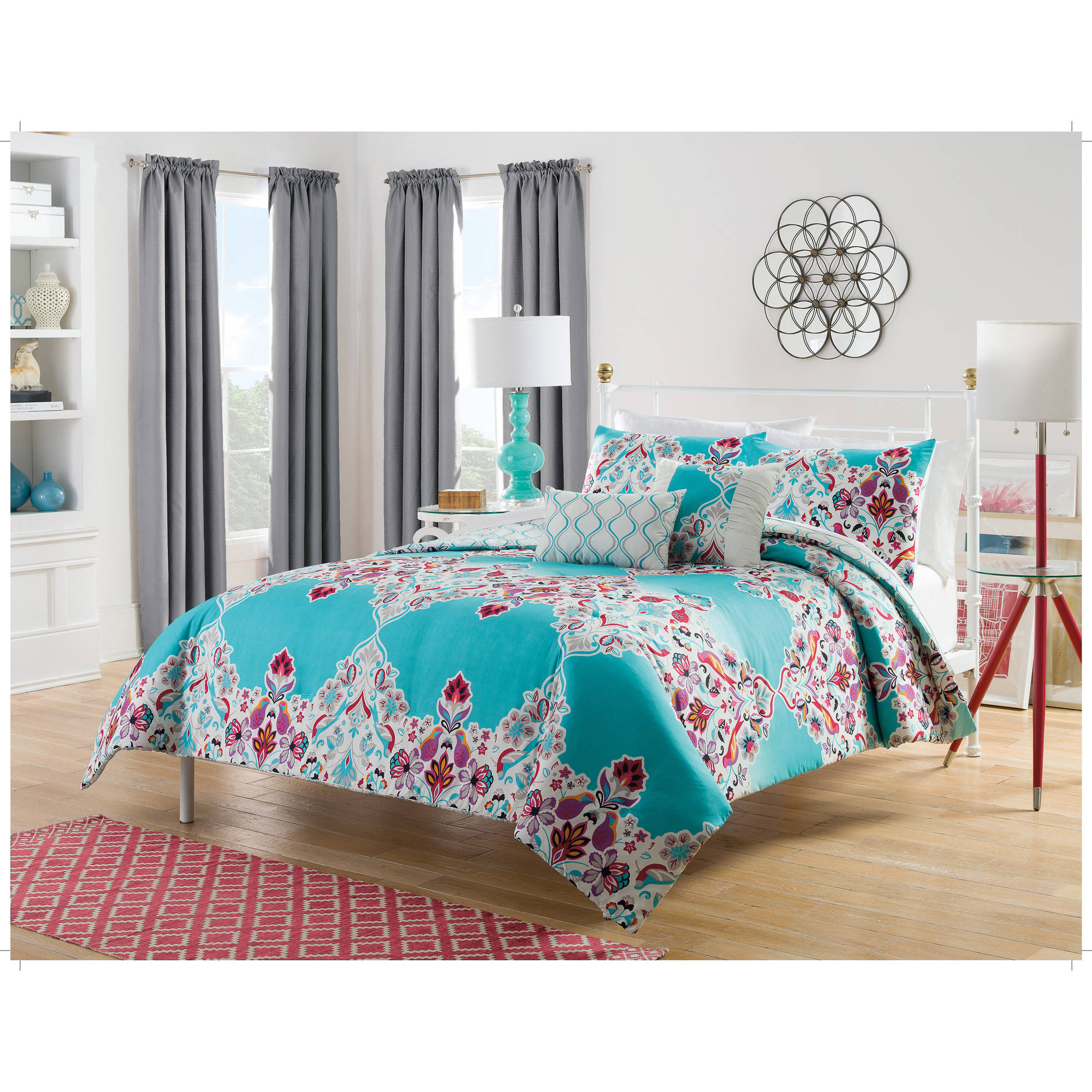 Harmony At Home Eden 5-Piece Reversible Bedding Comforter Set