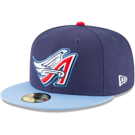 264c5c3f3c631 California Angels New Era Cooperstown Collection Wool 59FIFTY Fitted Hat -  Navy - Walmart.com