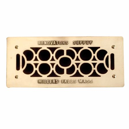 Floor Wall Heat Air Grill Vent Grate Solid Brass 4.75
