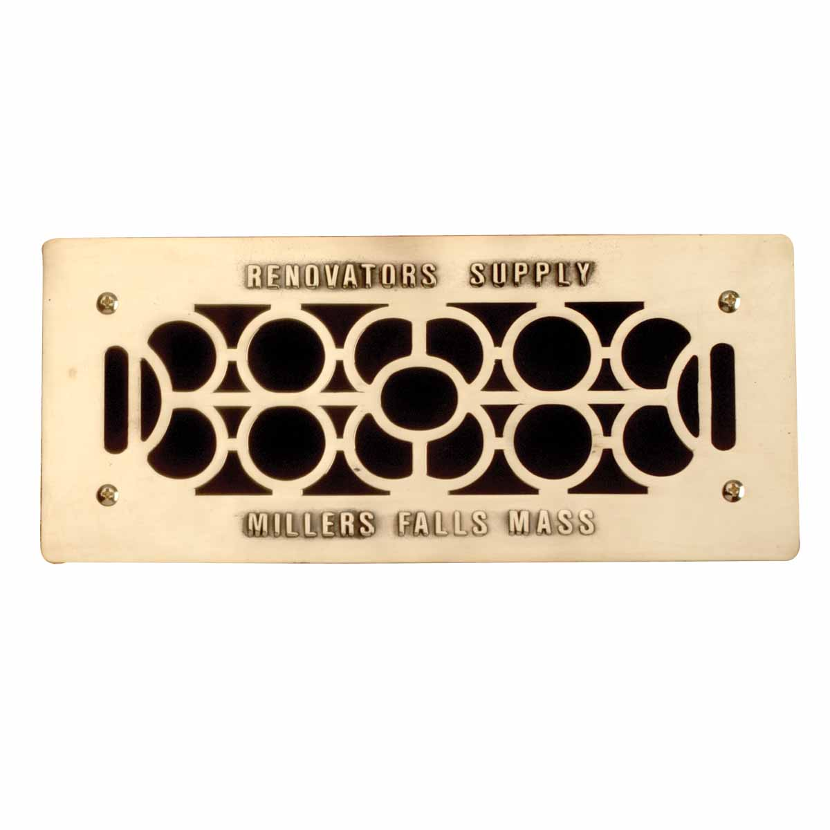 """Floor Wall Heat Air Grill Vent Grate Solid Brass 4.75 """"x 11"""" 