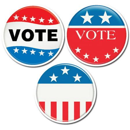 Vote Buttons 6 Designer Cut-Outs
