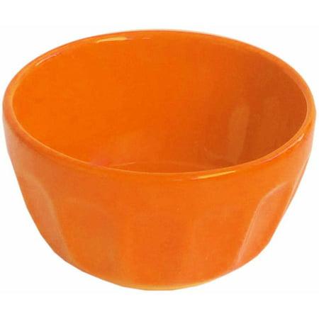 Bistro Thumbprint Orange Ramekins, Set of 4
