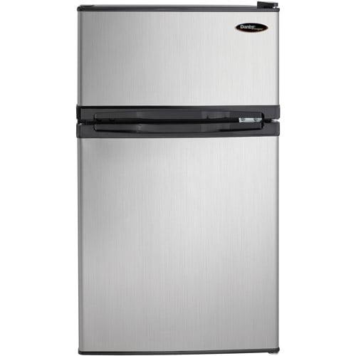 Danby Designer 3.1 cu ft 2-Door Compact Refrigerator, Spotless Steel