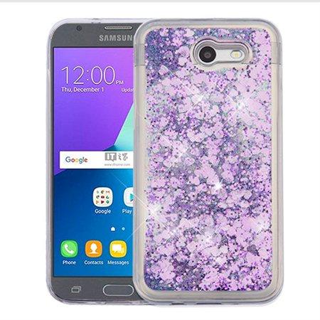 innovative design 68558 b591e For Samsung Galaxy Express Prime 2/J3 Liquid Glitter Protector Hybrid Cover  Case