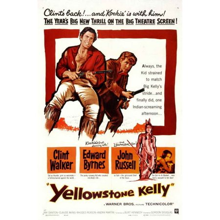 Yellowstone Kelly (1959) 27x40 Movie Poster (Kelly Movie Poster)