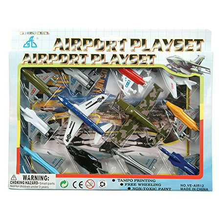 Kids Authority Airplane set - 1 Dozen Assorted Airplane Die (Camo Airplane)