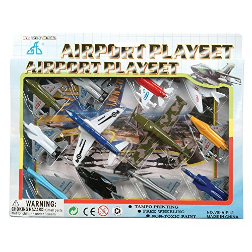 Kids Authority Airplane set - 1 Dozen Assorted Airplane Die Cast