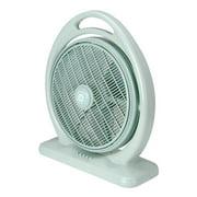 Sunpentown SF-1414 14 in. Box Fan, Light Olive Green