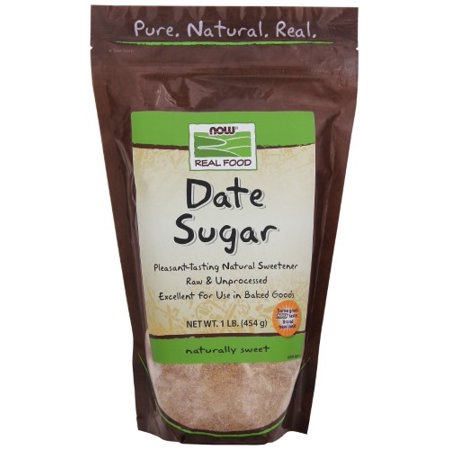 NOW Foods Real Food Date Sugar 1 lb - Vegan