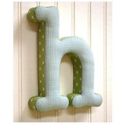 New Arrivals ''h'' Fabric Letter in Blue / Green