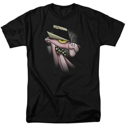 Mgm Pink Panther Smooth Panther Mens Short Sleeve Shirt Black LG
