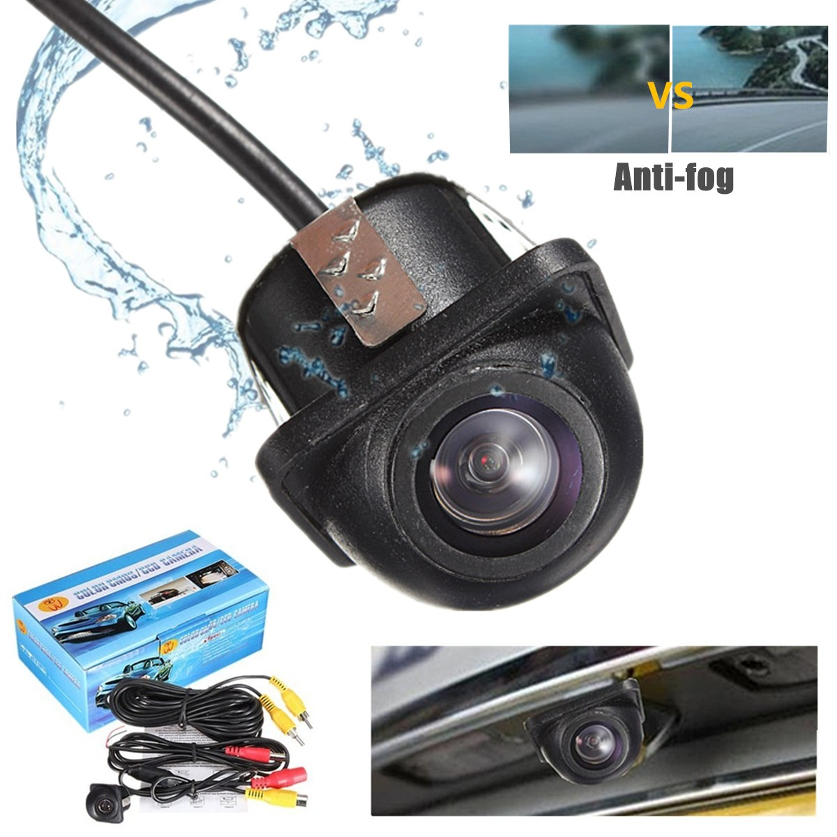 Universal Car Rear View Camera Auto Parking Reverse Backup HD Camera Night Vision Support NTSC Video System