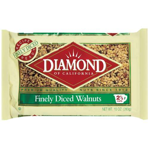Diamond Of California Diced Walnut, 10 oz
