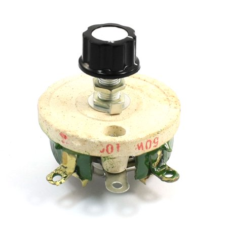 (Unique Bargains Wirewound Ceramic Potentiometer Variable Rheostat Resistor 50W 100 Ohm)