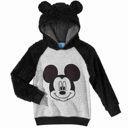 Disney Infant Boys Plush Black & Gray Mickey Mouse Hoodie Sweatshirt](Disney Hoodies)