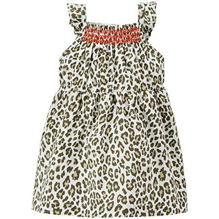 Baby Girls' Leopard Print Dress (Baby) - White-3 Months - Leopard Print Girls Dress