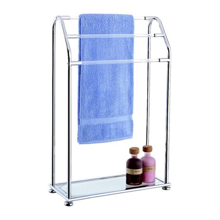 Organize it all acrylic free standing towel stand - Free standing bathroom towel rack ...