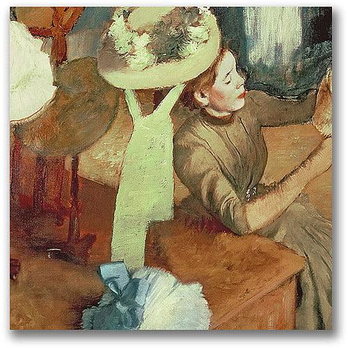 "Trademark Fine Art ""The Millinery Shop"" Canvas Wall Art by Edgar Degas"