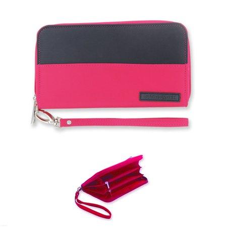 - Womens Wallet RFID Theft Blocking Zip Clutch Phone Wristlet Purse Id Cards Strap