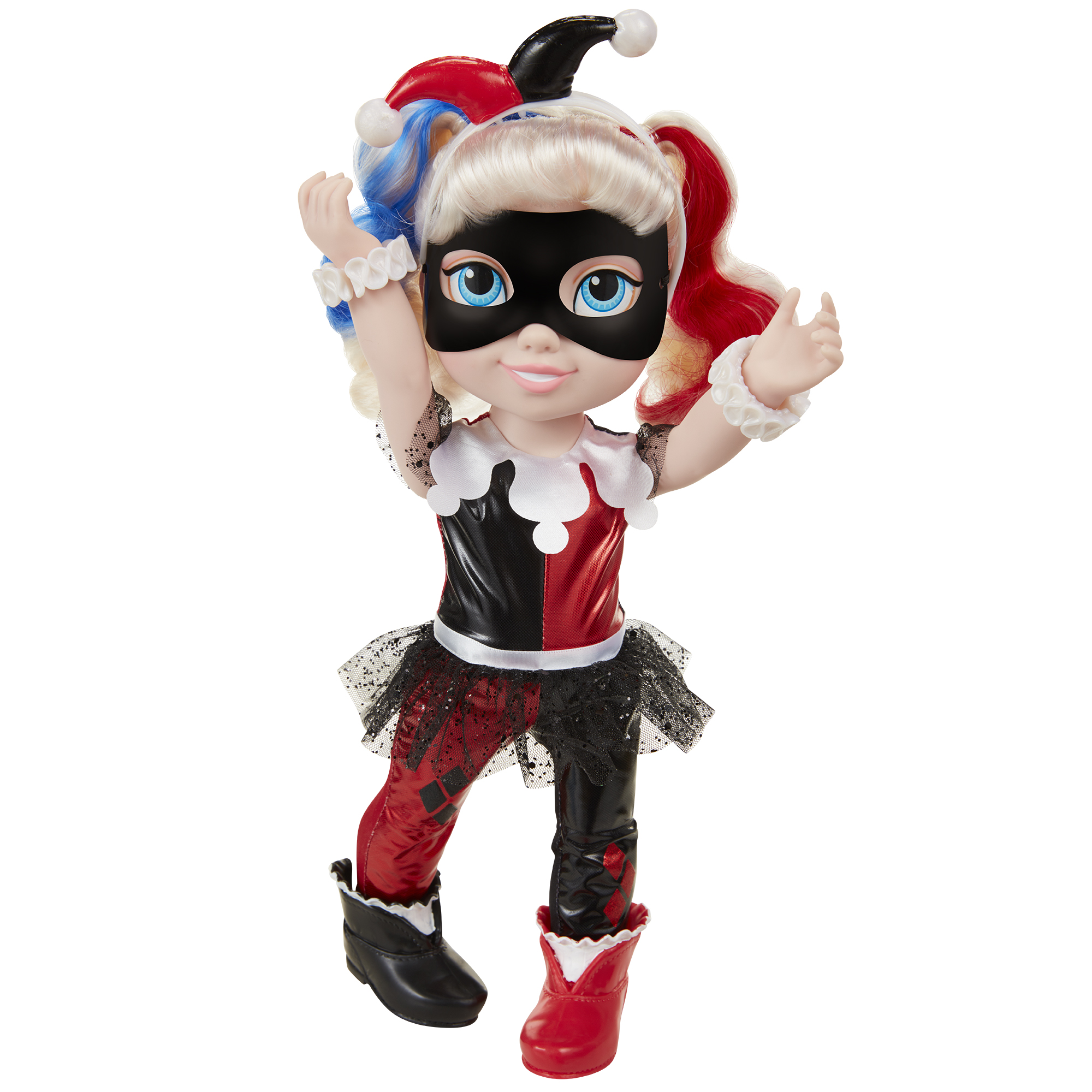 DC Superhero Girls 15 Harley Quinn Toddler Doll Gorgeous Rooted Hair Signature Iconic Outfit Includes 7 Pieces!