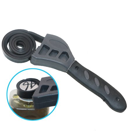New 500mm Rubber Strap Wrench Universal Black Wrench Adjustable