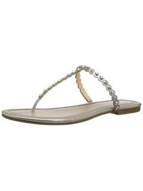 Jessica Simpson Womens Karlee Metallic Thong Flip-Flops