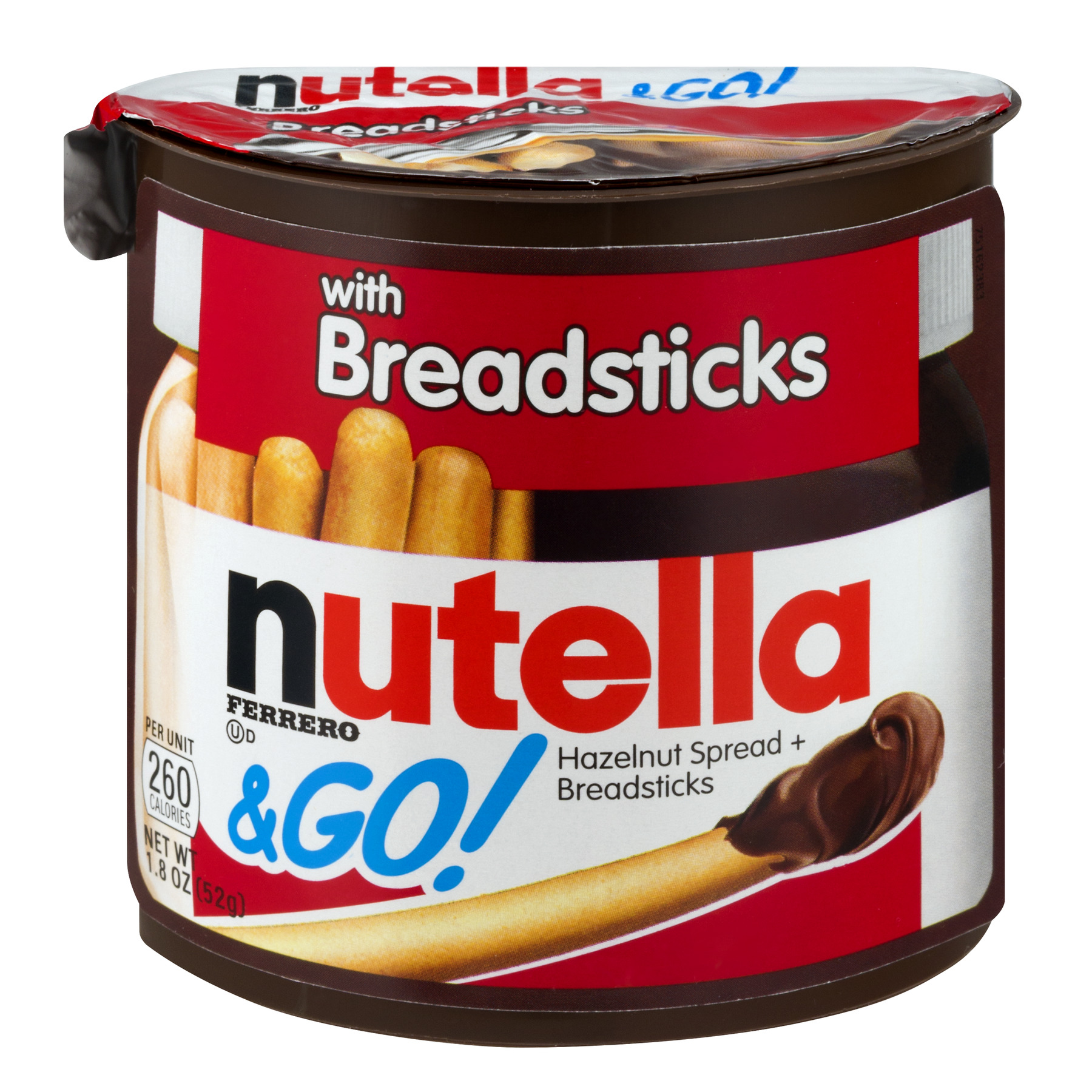 Nutella & Go! Breadsticks Hazelnut Spread, 1.8 OZ