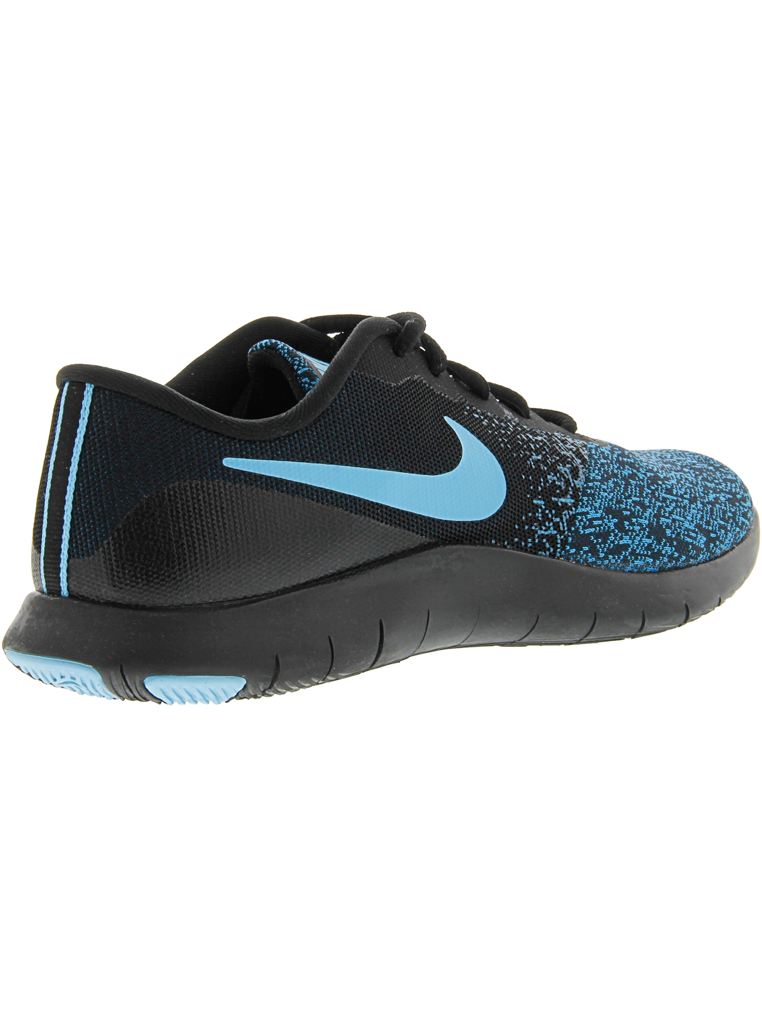 7a402fcc8636 Nike - Nike Women s Flex Contact Black   Lagoon Pulse - Green Abyss  Ankle-High Running Shoe 6.5M - Walmart.com