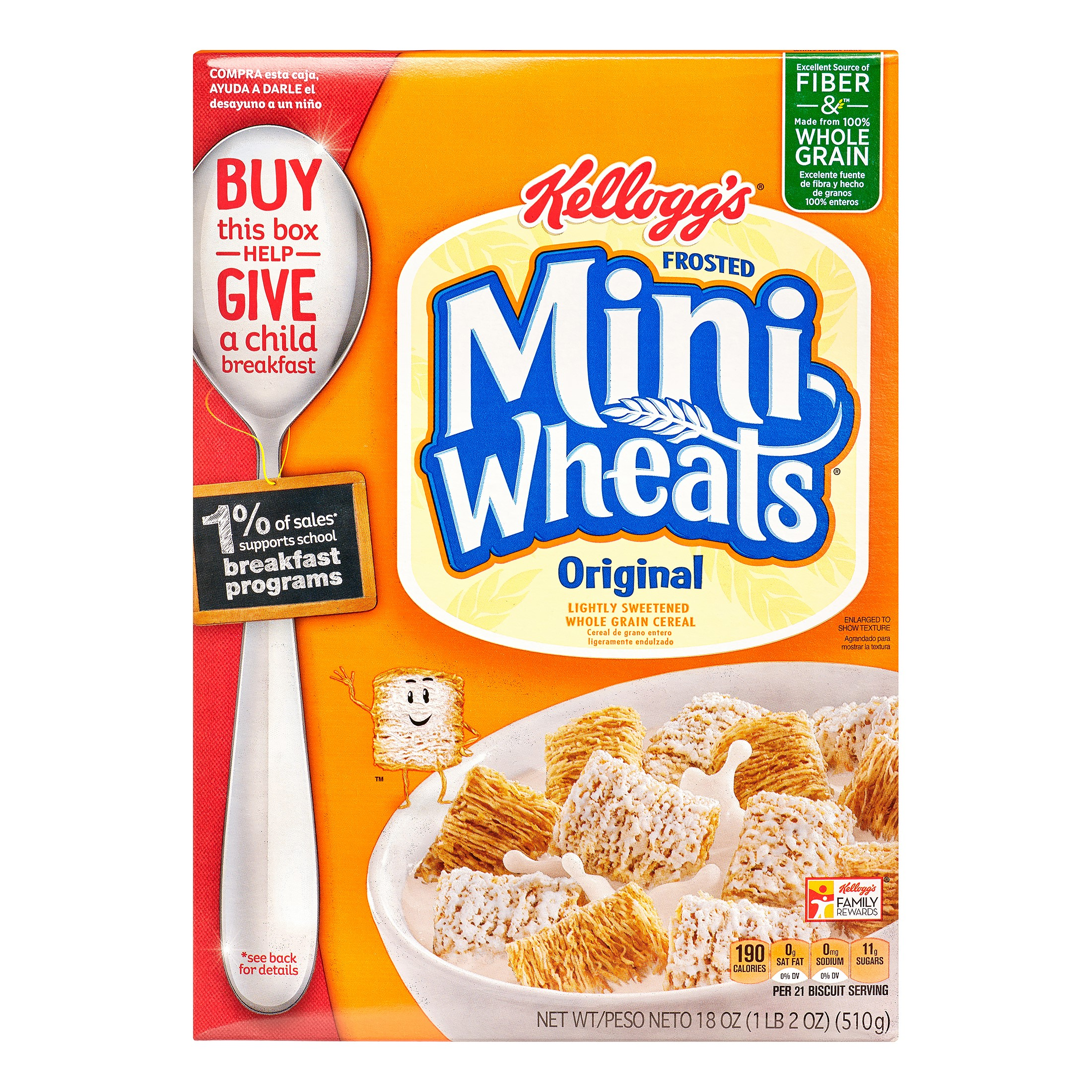 Frosted Mini Wheats Cereal, Original, 18 Oz