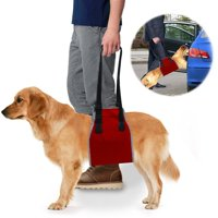 Roadwi Dog Lift Support & Rehabilitation Harness, Oxford and Nylon Pad with Reflective Stitching, Ideal Assist Sling for Dogs Recovering, Recommended (Medium:25-55lbs, Large:55-77lbs)Dogs
