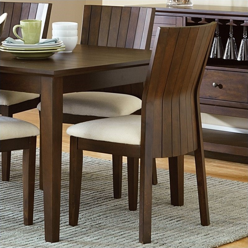 Steve Silver Harlow Dining Chair in Tobacco and Cherry (set of 2)