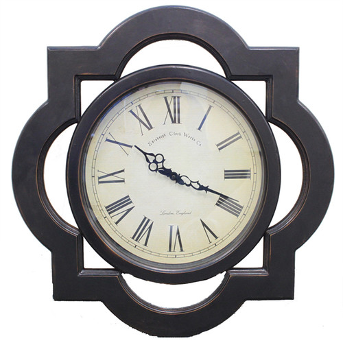 EC World Imports Oversized 23.5'' Antique Reproduction Architectural Wood Wall Clock