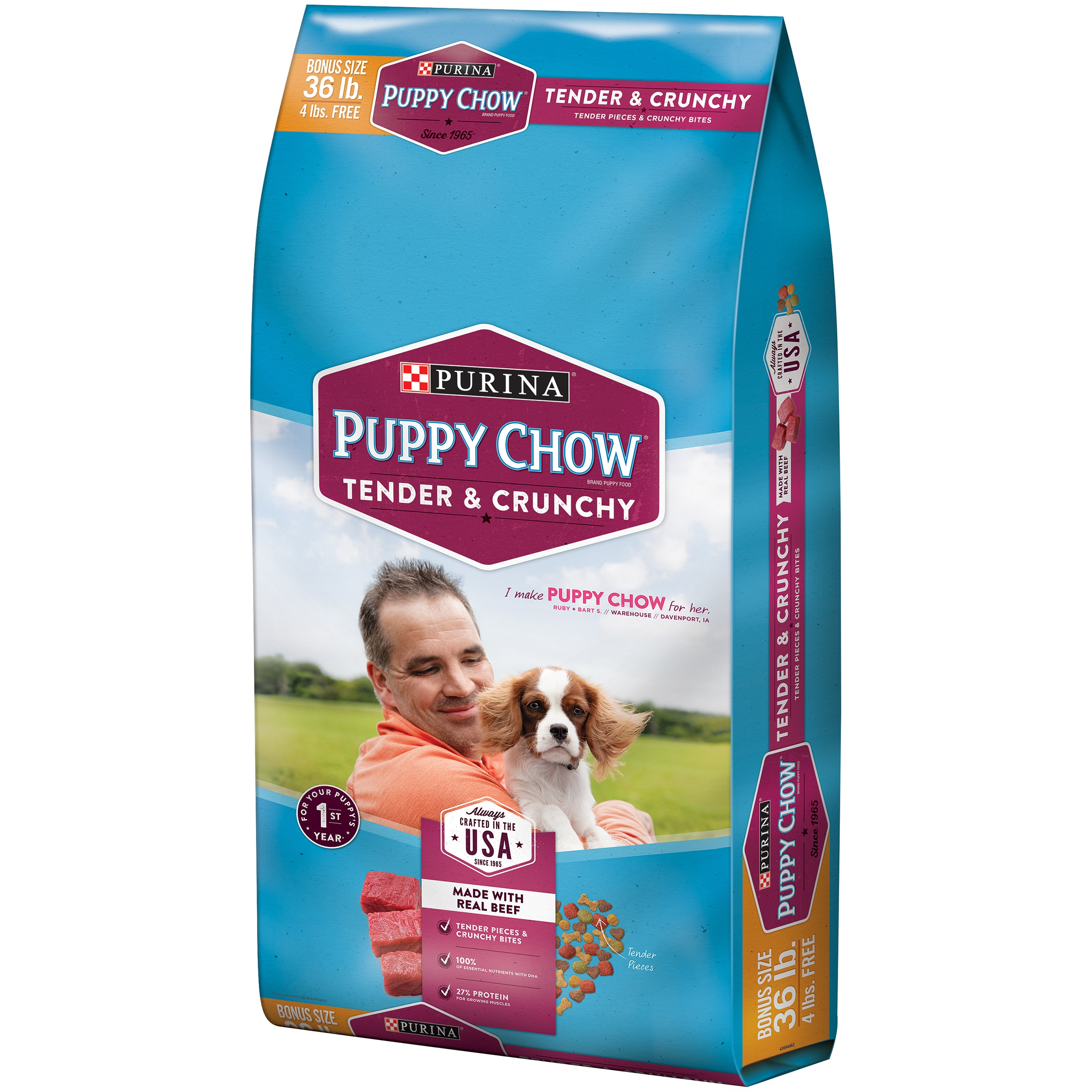 Purina Puppy Chow Tender & Crunchy Dry Puppy Food - 36 lb. Bag ...