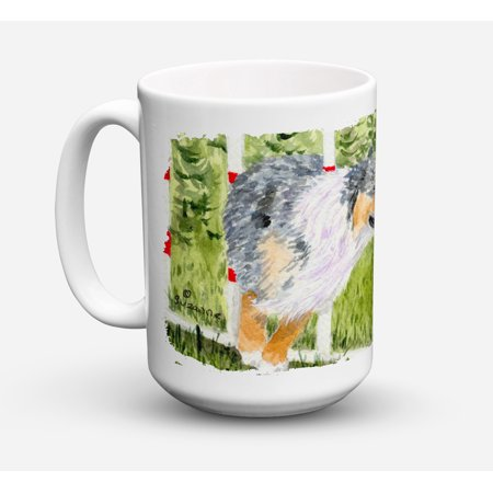 Australian Shepherd Dishwasher Safe Microwavable Ceramic Coffee Mug 15 ounce SS8885CM15