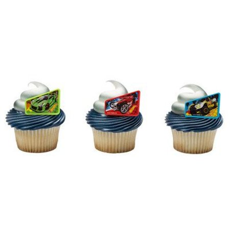 Hot Wheels Way 2 Fast Cupcake Rings - 24 pc - Hot Wheels Cupcake Toppers