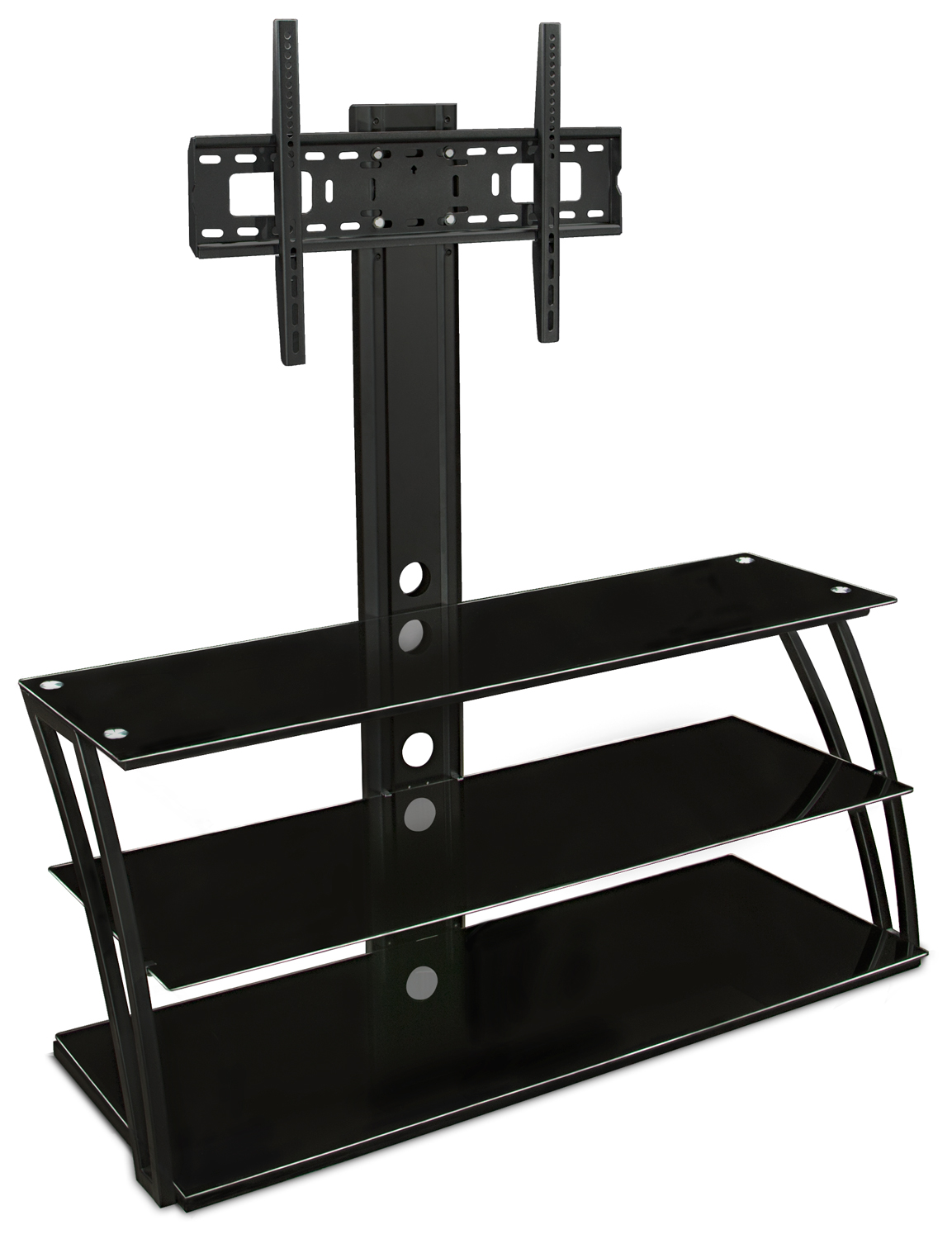 Mount It Tv Stand With Mount And Storage Shelves Fits 32 To 60