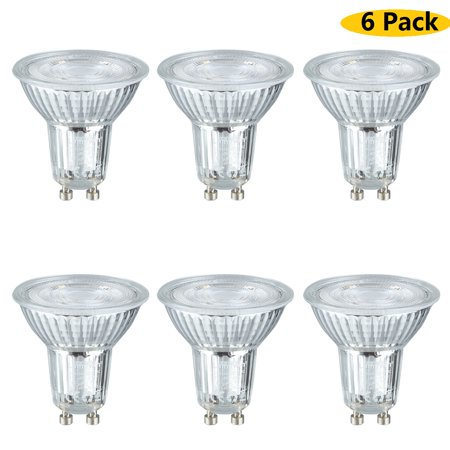 Lampwin LED Light Bulbs GU10 Base 5W (50W equivalent) AC 100-240V Spotlight with 500 Lumen 6000K Daylight Spotlight 40 Degree Beam Angle 6 - Lumens Spotlight