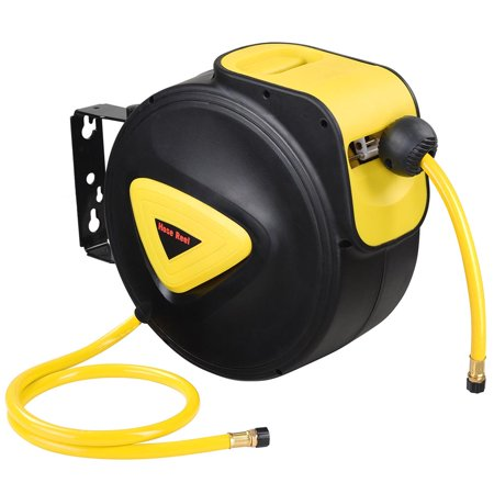 "Yescom Auto Rewind Air Hose Reel w/ 65'/50'/33'x3/8"" Retractable Hose Wall Mount Tool Portable Winding Air Compressor"