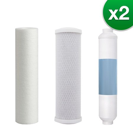 Filter Kit For Aqua Flo 4 Stage RO System (2-Pack) Replacement RO Filter