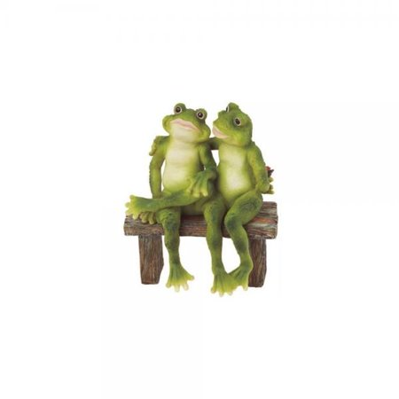George S. Chen Imports SS-G-61040 2 Frogs on Bench Garden Decoration Collectible Figurine Statue Model](Halloween Figurines Collectibles)