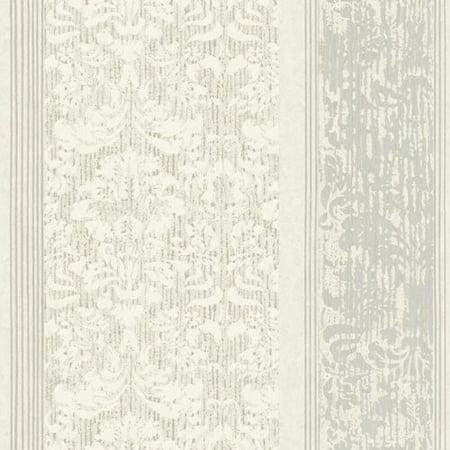 Damask Stripes Wallpaper - Black & White Damask Stripe Wallpaper