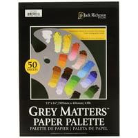 Jack Richeson 12 X 16 Grey Matters Paper Palette 43#