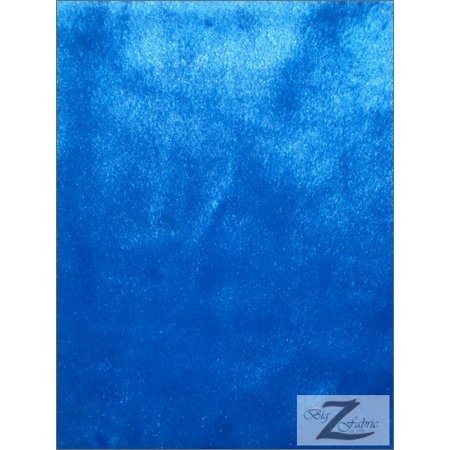 Velboa Faux Fake Fur Solid Short Pile Fabric / Royal Blue / Sold By The Yard ()