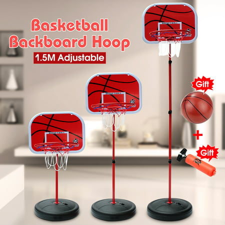 Portable Basketball Hoop Basketball Stand System Hoop Backboard Net Kit Gift for Kids Children, Height Adjustable 74-150cm ()