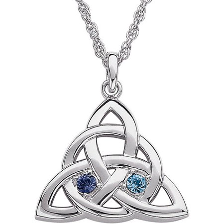 Personalized couples birthstone silver plated celtic knot pendant personalized couples birthstone silver plated celtic knot pendant aloadofball Image collections