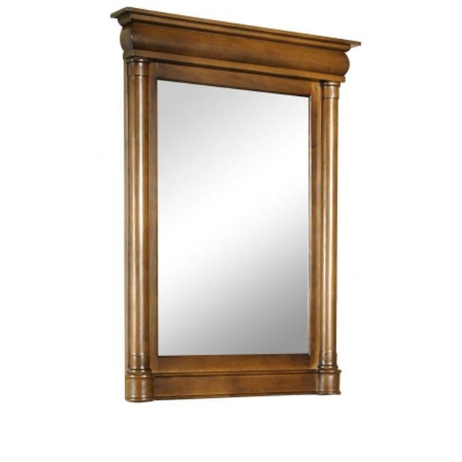 Kaco International 348-2200 John Adams Large Vanity Mirror in a Cherry Brown Krylon Finish
