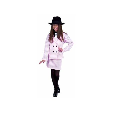 Child's Pink Gangster Moll - Gangster Moll Costumes
