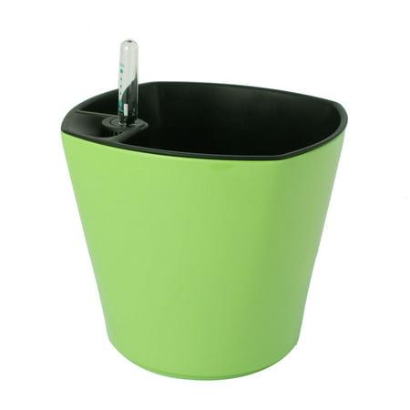 Amaryllis Apple Pots (Plastic Self Watering Planter Flowerpot Pot Apple Green w Water Level)